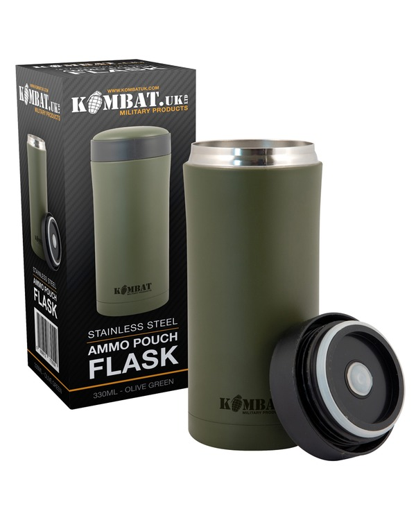 Kombat Ammo Pouch Flask - Olive Green