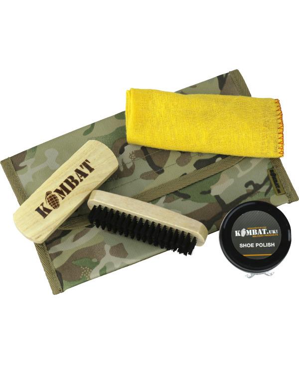 Kombat Military Boot Care Kit - BTP with BLACK polish