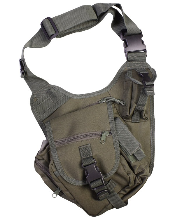 Kombat Tactical Shoulder Bag 7 Litre Olive Green
