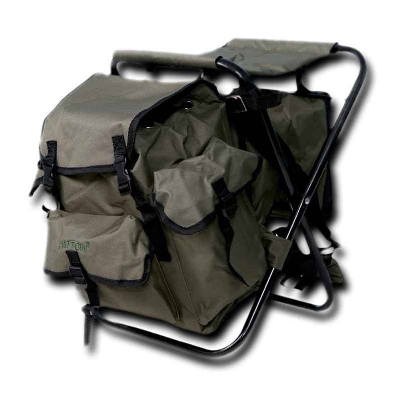 PATTON CHAIR WITH STORAGE COMPARTMENT & COOLER BAG (SG02-GREEN)