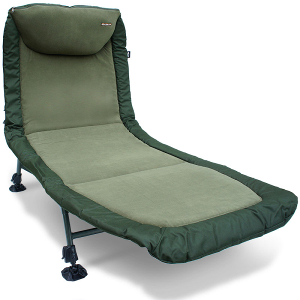 NGT Classic Bed - 6 Leg Bed Chair Fleece Lined with Recliner and Pillow