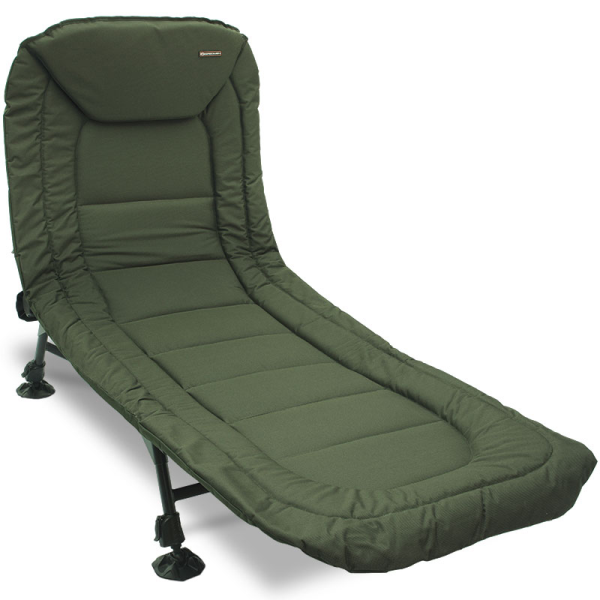 NGT Specimen Anglers Bedchair - 6 Leg, Recliner with Pillow
