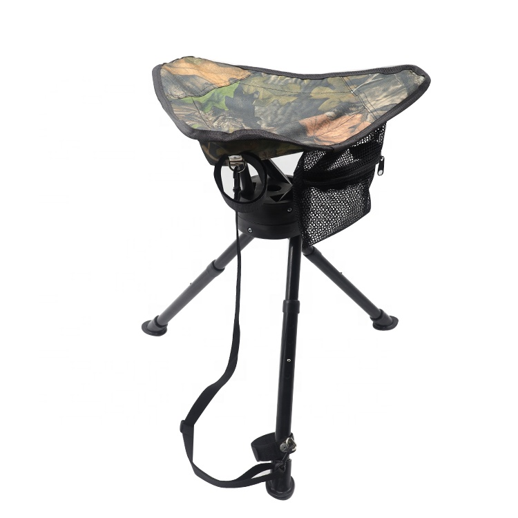 Folding Portable Hunting Triangle Stool 360 Degree Swivel Hunting Chair