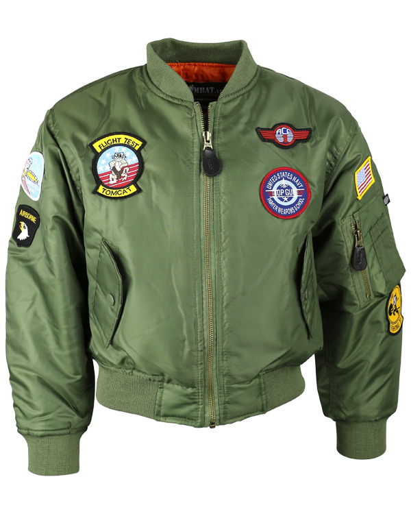 Kombat Kids MA1 Jacket - Olive Green