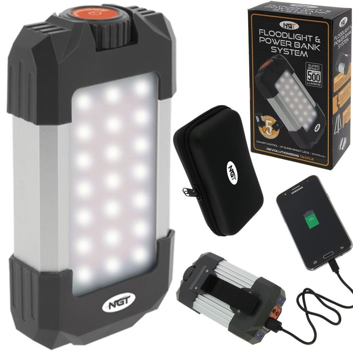 Flood Light and Power Bank System