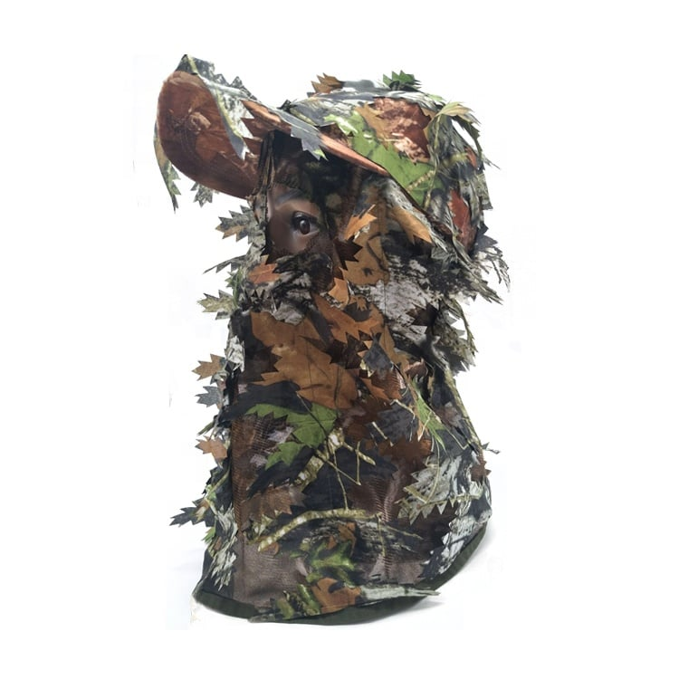 HUNTING LEAFY MASK WITH CAP - GREEN