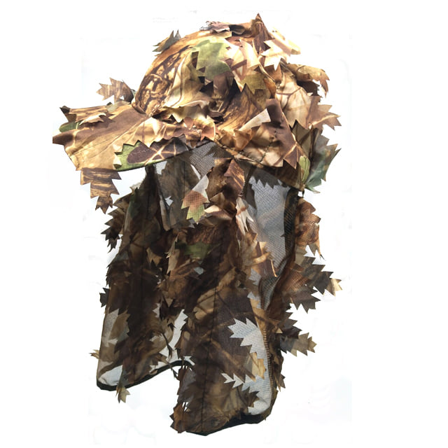 HUNTING LEAFY CAP WITH CAP - BROWN