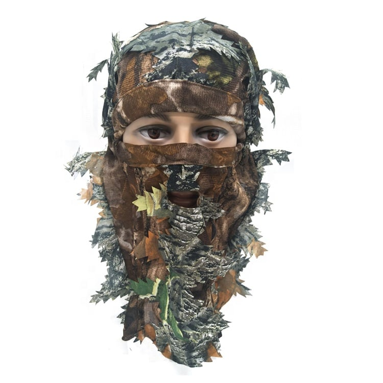HUNTING LEAFY MASK - BROWN