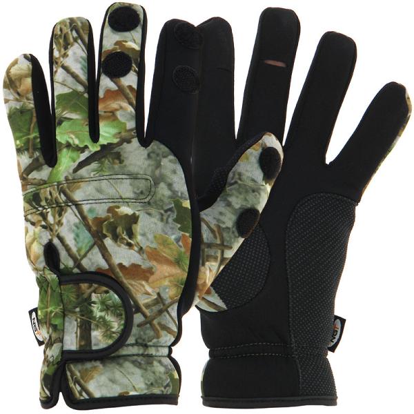 NGT Camo Neoprene Fishing Gloves