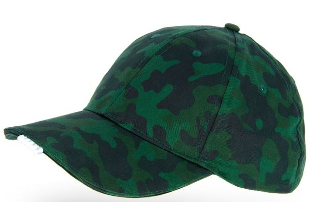 NGT CAMO GREEN CAP WITH LED LIGHTS