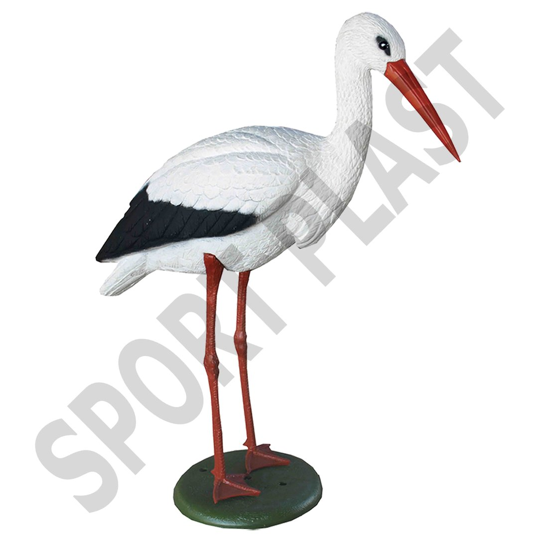 Sport Plast Italian Decoy Stork with Legs and Base 1700 BS