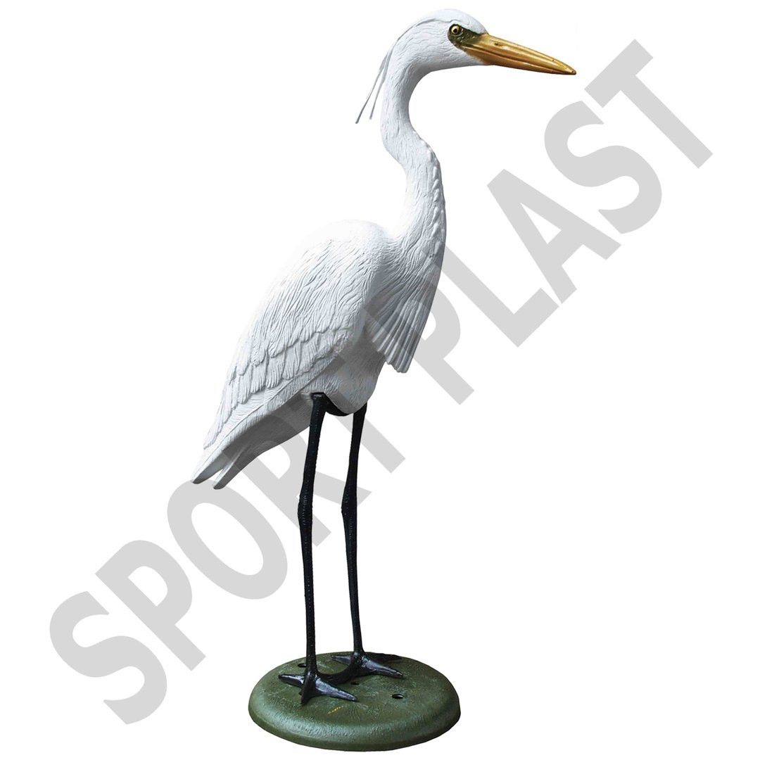 Sport Plast Italian Decoy White Heron with Legs and Base HER1500 W