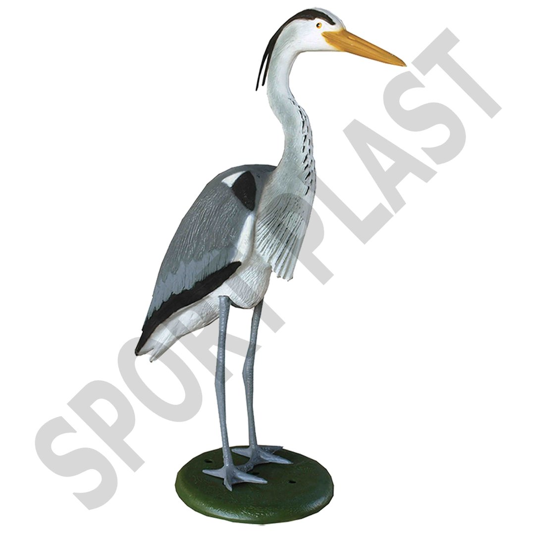Sport Plast Italian Decoy Heron with Legs and Base HER1500