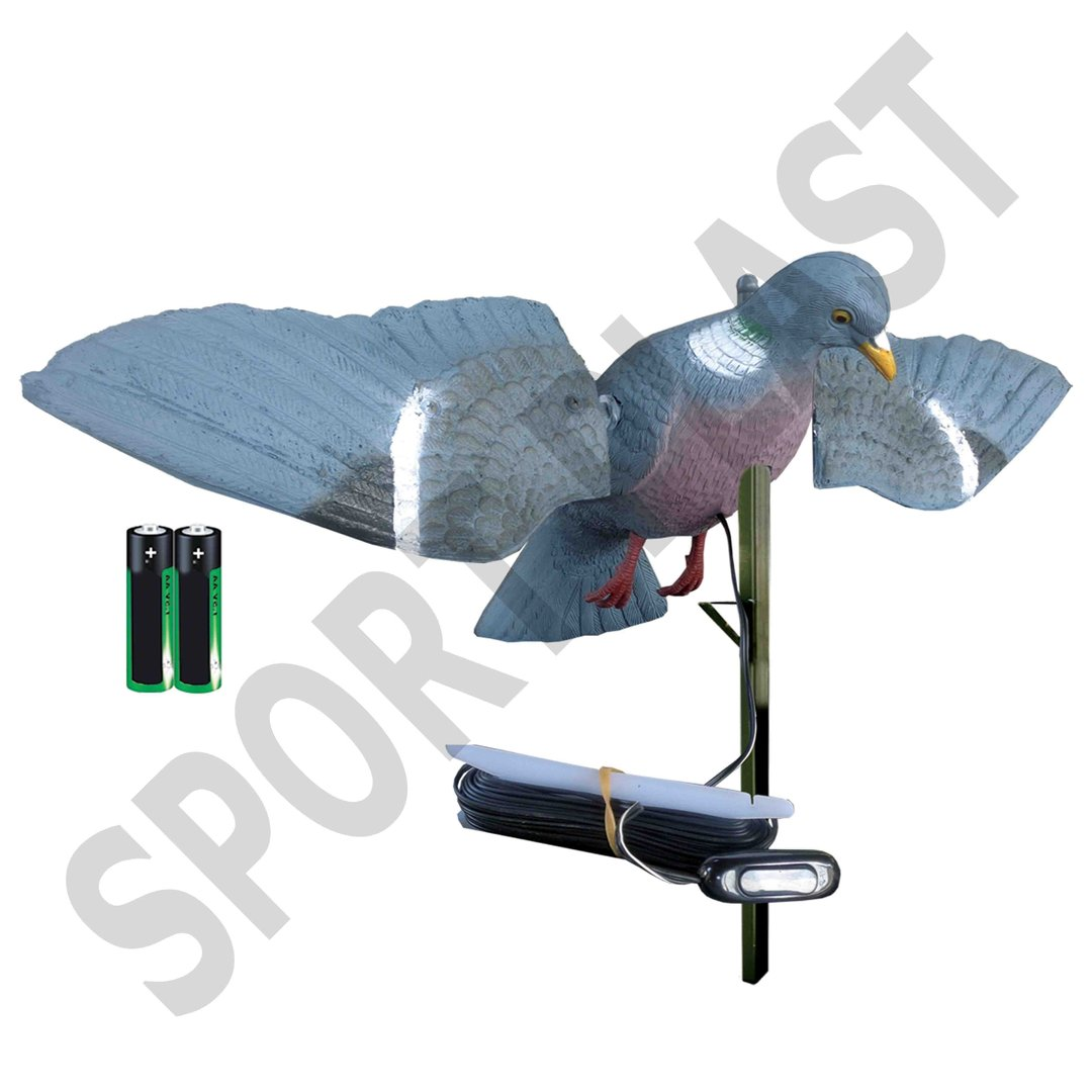 Sport Plast Italian Decoy Rotating Wings Wood Pigeon TU 250 LC