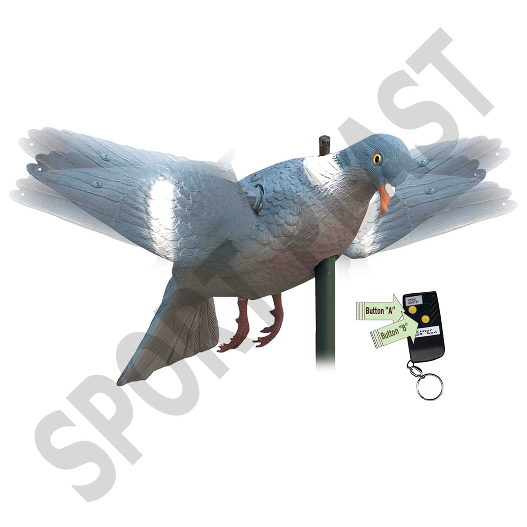 Sport Plast Italian Decoy Wood Pigeon With Remote Control TU 250 RC