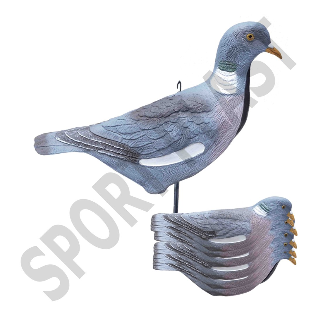 Sport Plast Italian Decoy Wood Pigeon shell Upright IM 26-00 U
