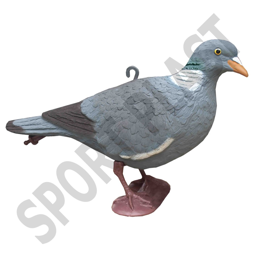 Sport Plast Italian Decoy Wood Pigeon with Legs Upright Head OS 26-00 U