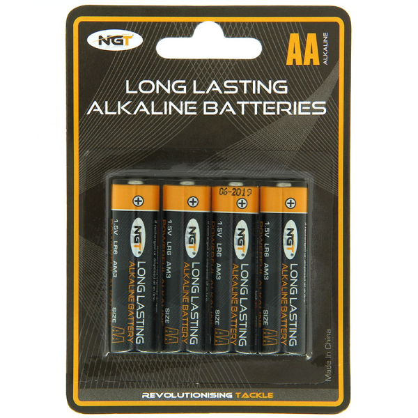 NGT Pack of 4 x AA Alkaline Batteries